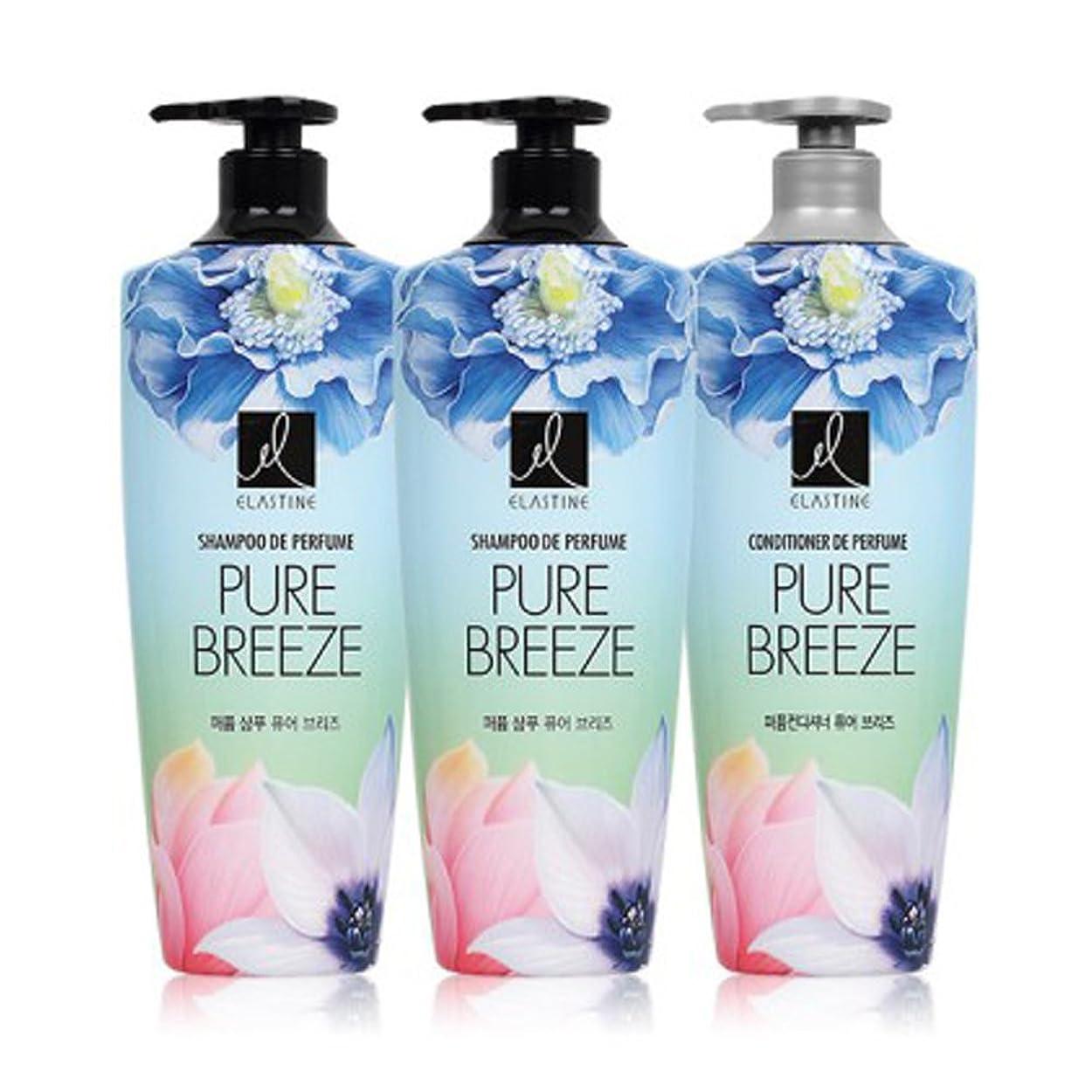 書誌真っ逆さまデッキ[エラスティン] Elastine Perfume PURE BREEZE シャンプー600ml x 2本, コンディショナー600ml x 1本 / パフュームピュアブリーズ [並行輸入品]