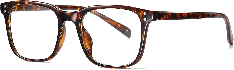 SKILEC Gafas Anti Luz Azul Gafas Ordenador Gafas Lectura Hombre Mujer Antifatiga Filtro Protección Azul UV Gafas Presbicia Hombre para PC, Gaming, TV Tablet Videojuegos Lentes Transparentes (Tortuga)