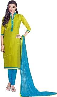 Ready to Wear Kora Silk Designer Salwar Kameez with Embroidery Dupatta