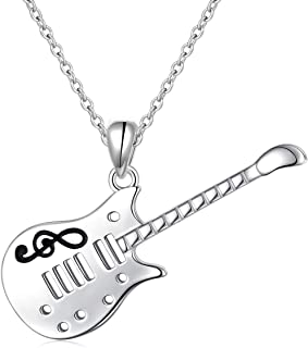 S925 Sterling Silver Music Themed Music Clef Heart Pendant Necklace Ring Earrings Bracelet Musical Jewelry for Women Girls Birthday Gift