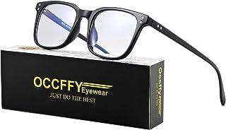 Occffy Blue Light Blocking Glasses Transparent Lens Filter UV400 Anti Glare Computer Gaming Glasses For Men Women 5025