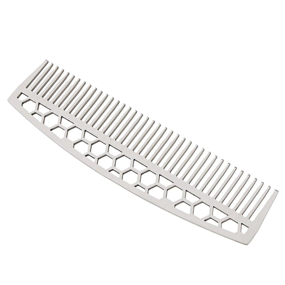 確認発明する先にKesoto ビアードコーム 男性 ステンレス鋼 ひげ 櫛 口ひげ スタイリング 2タイプ - #1