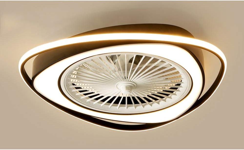 PHLPS Ventilador de techo con las luces del ventilador Luz Led dormitorio luz de techo Ventilador de luz 110v velocidad del viento semi montaje empotrado invisible perfil cerrado cuchillas de ventilad