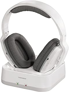 """Thomson""""WHP3311W"""" Wireless TV Headphones (On-ear, with system charging station, PLL, over-ear, range 100 m, 863 MHz, wirel..."""