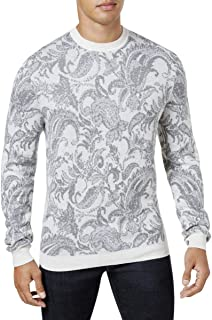 Mens Paisley Crewneck Pullover Sweater