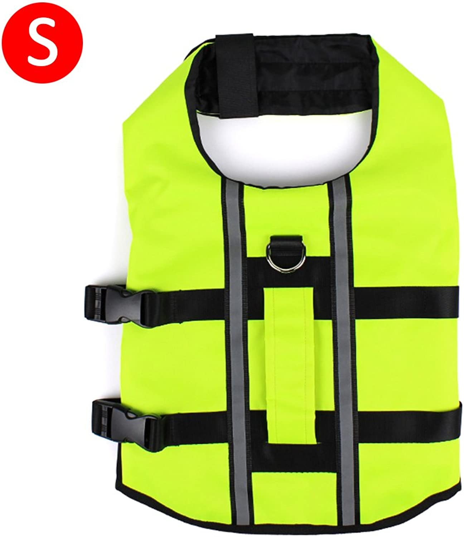 Dog Life Jacket,SHZONS Reflective Inflatable Adjustable Foldable Dog Life Vest Saver Safety Swimsuit Preserver for Swimming Surfing Boating