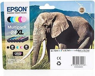 Epson original   Epson Expression Photo XP 760 (24XL / C 13 T 24384010)   Tintenpatrone MultiPack schwarz,cyan,magenta, gelb,Foto cyan,Foto magenta   740 Seiten