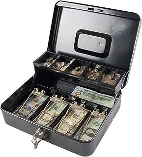 Kreator Geldkassette Kasse 25 x 9 x 18 cm Moneybox Münzen Geldscheine 3 Fächer