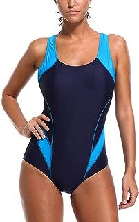 ATTRACO Women's Athletic One Piece Swimsuit Sports Racerback Training Swimwear