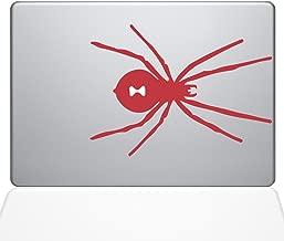 "The Decal Guru Black Widow Spider Macbook Decal Vinyl Sticker  - 13"" Macbook Pro (2016 & newer) - Red (1280-MAC-13X-DR)"