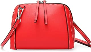 Runhuayou New Fashion Simple and Various Pack Bills Shoulder Slung Leather Handbags Great for Casual or Many Other Occasions Such (Color : Red)