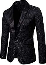 Toimothcn Charm Men's Sequin Casual One Button Fit Suit Blazer Coat Jacket Party