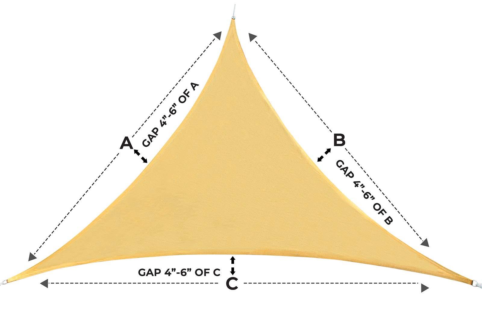 Toldo para toldo de Patio y Parque - triángulo en Color - Cubierta para Patio Exterior Duradera - toldo de pérgola - Kit de Herramientas de Acero Inoxidable Resistente de 8 Pulgadas: Amazon.es: Jardín
