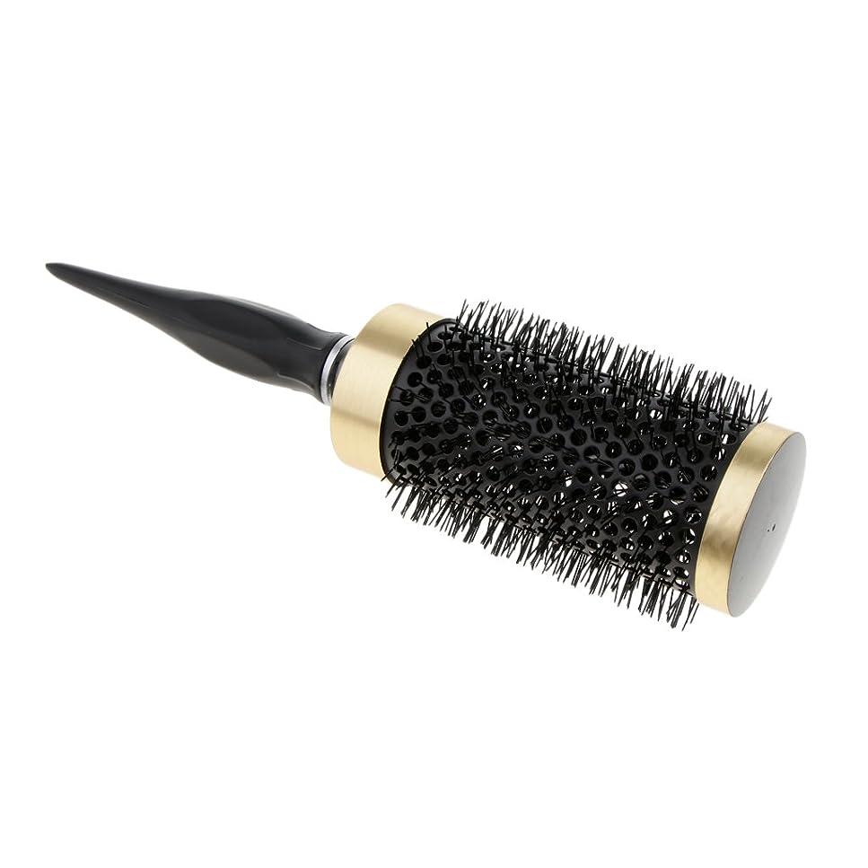 誤解を招く細胞白いPerfk ロールブラシ ヘアブラシ ナイロンブラシ 静電気防止  カーリング 巻き髪ヘア 全5サイズ - 52mm