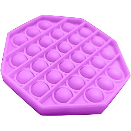 Autism Sensory Toys Pop It Fidget Toy Set Of Glow in the Dark and Purple Fidget Toys Fidget Toys For Kids and Adults Push Pop Bubble Fidget Sensory Toy Kids Anxiety Relief Popping Fidget