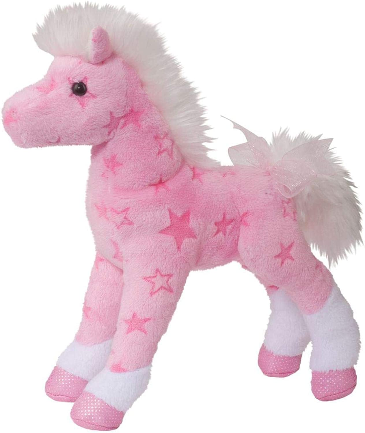 Plush Summer Pink Fantasy Horse 8  by Douglas Cuddle Toys
