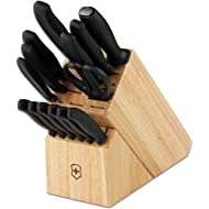 Victorinox Swiss Army Cutlery Swiss Classic Knife Block Set, 15-Piece