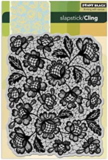 Penny Black 40-135 Floral Thread Cling Rubber Stamp