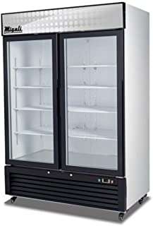ft Migali C-2F 52 Competitor Series Reach-In Freezer with 49 cu Capacity Solid Doors Auto Defrost 115 Volts 6 Shelves and Top Mounted Compressor in Stainless