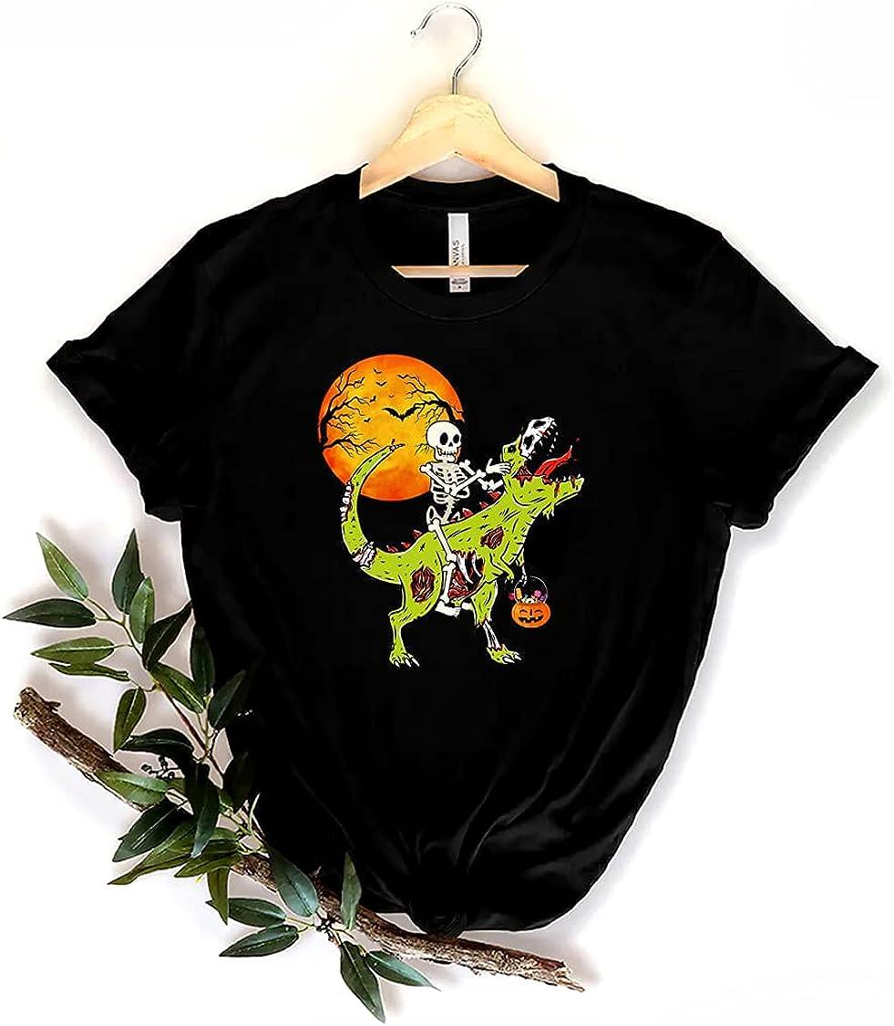 Halloween Dinosaur Zombie T Rex Skeleton Boys Toddler Kids, Halloween Town, Women T-Shirt, Sweater, Hoodie