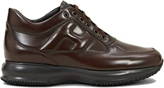 Hogan Scarpe da Uomo Interactive HXM00N000107J7S801 Sneakers Sportive Running in Pelle Marrone Testa Moro Calzature Comode...