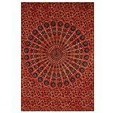 Montreal Tappassier Indian Wall Decor Hippie Tie Dye Orange Tapestries Bohemian Mandala Tapestry Wall Hanging Throw