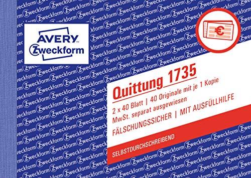 AVERY Zweckform -   1735 Quittungsblock