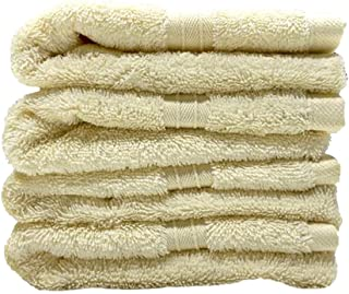 Gems Collection Premium Towels by Happy Home (Cream, 4 Bath towels)