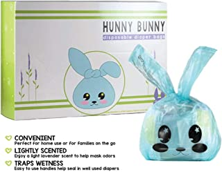 Hunny Bunny Easy Disposable Baby Diaper Bags Sacks Biodegradable Lightly Lavender Scented