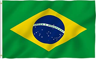 ANLEY® [Fly Breeze] 3x5 Foot Brazil Flag - Vivid Color and UV Fade Resistant - Canvas Header and Double Stitched - Brazili...