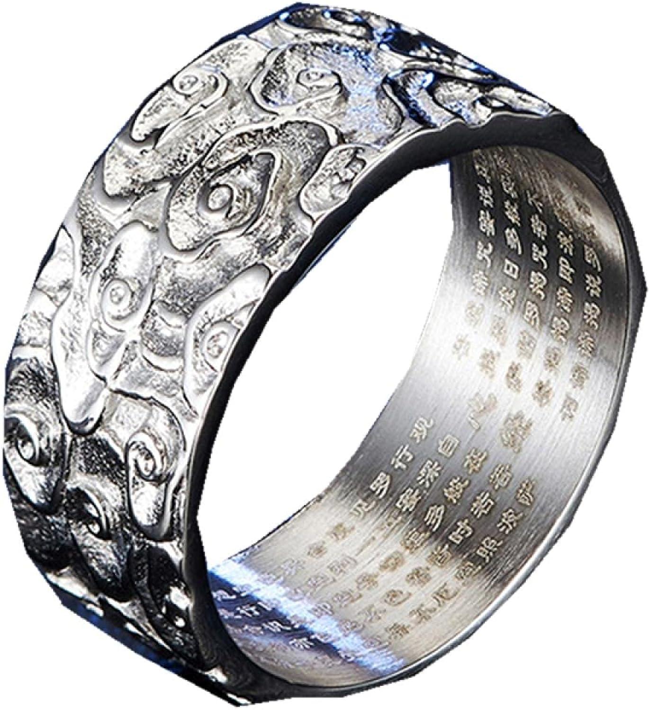 Stainless Steel Buddhist Ranking TOP16 Heart Sutra Religion Asian Sc Denver Mall 9mm Rings