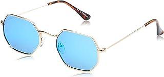 TFL Hexagonal Sunglasses for Women - Blue Lens, 201349-C4