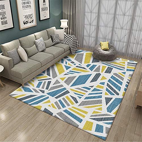 Kunsen Alfombra Dormitorio alfombras Bebe Alfombra de Sala de Estar Amarillo Azul Gris Rectangular Moderno Suave Alfombra Juegos Bebe 200X300CM 6ft 6.7' X9ft 10.1'
