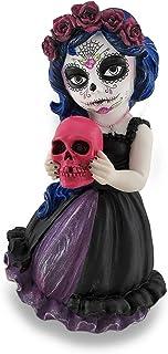 Cosplay Kids Mini Day of Dead Girl Holding Skull Statue