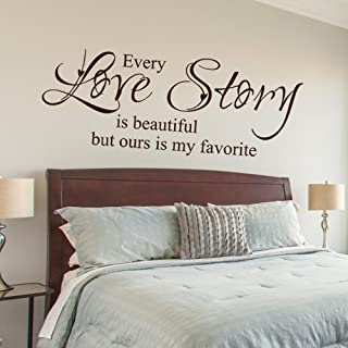Every Love Story Is Beautiful But Ours Is My Favorite - Vinyl Wall Lettering Decal Quotes Romantic (Black, X Large)