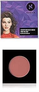 SUGAR Cosmetics Contour De Force Mini Blush - 01 Peach Peak (Soft Peach Pink)| Light Weight | Blendable & Long Lasting