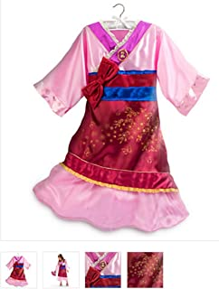 DISNEY STORE PRINCESS MULAN KIMONO COSTUME DRESS GIRLS PINK - 2015 (7/8)