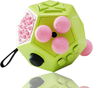 VCOSTORE 12 Sides Fidget Cube, Dodecagon Fidget Toy Dice Stress and Anxiety Relief Portable for Children and Adults with A...
