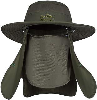 Sombrero del pescador de la protección UV del verano de los hombres Sombrero del sol de los hombres (Color : Green, Size : 55-60cm)