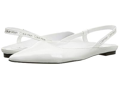 Calvin Klein Maya (White Crinkle Patent) Women