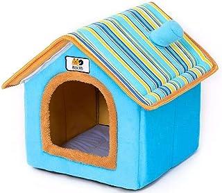 Perrera Cama Extraíble Lavable para Mascotas, Casa para Gatos, Casa para Perros, Hogar, Chimenea, Forma De Casa, Nido para...