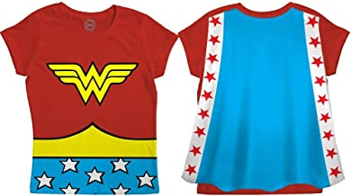 DC Comics Wonder Woman Toddler Costume Red Caped T-shirt