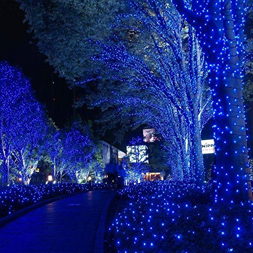 Solar Christmas Lights,72ft 200 LED 8 Modes Solar String Lights, Waterproof Starry Fairy Lights for Outdoor, Gardens, Homes, Wedding, Holiday,Party,Christmas Decorations (Blue)