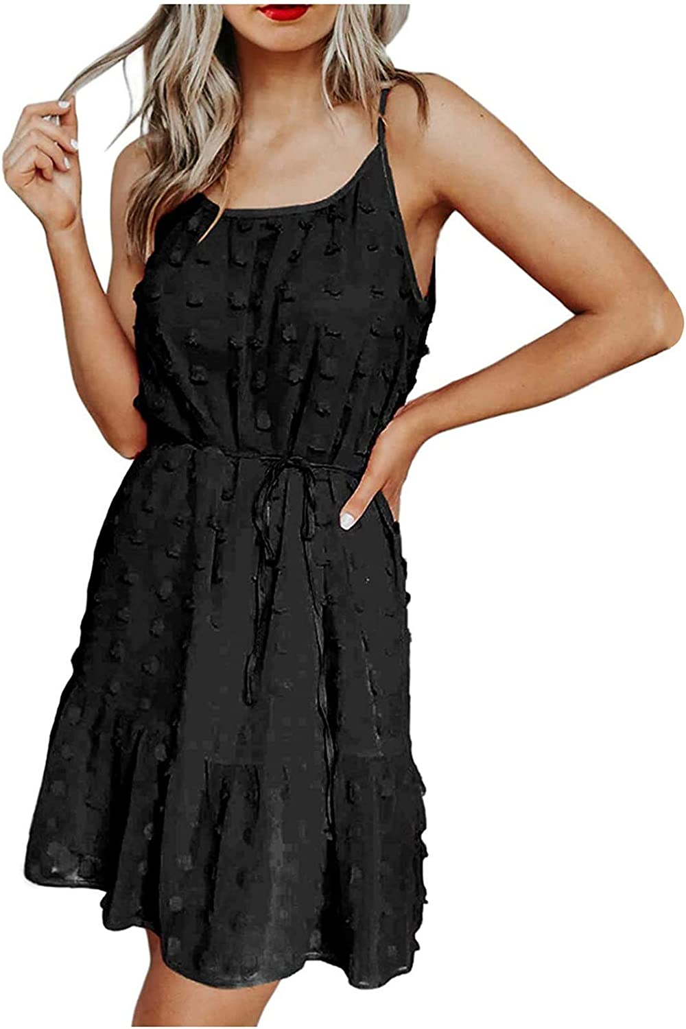 Summer Beach Dress Ranking TOP15 Womens Limited Special Price Casual Spaghetti Fitted V-Neck S Loose