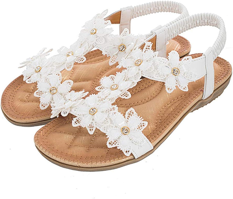 Mubeuo Women's Flat Floral Fashion Sandals Skidproof Sandles