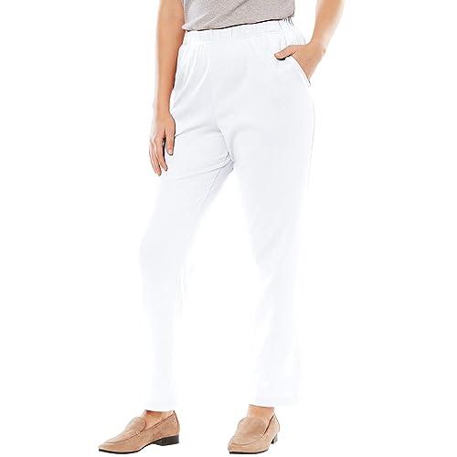 Plus Size White Pants: Amazon.com