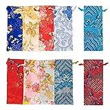 PH PandaHall 10pcs 10 Colors Silk Drawstring...