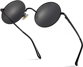 Sponsored Ad - Retro Round Polarized Sunglasses for Men Women Small Circle Sun Glasses John Lennon Style