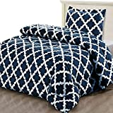 Utopia Bedding Printed Comforter Set (Twin/Twin XL, Navy) with 1 Pillow Sham - Luxurious Brushed Microfiber - Down Alternative Comforter - Soft and Comfortable - Machine Washable