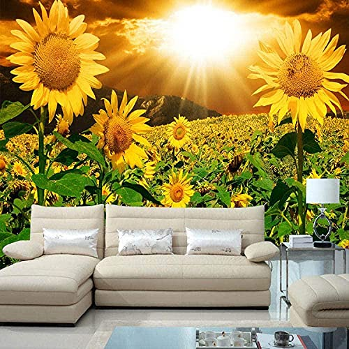 ZZXIAO Papel tapiz de fondo de TV de gran mural no tejido 3D Película Sala de estar Dormitorio Paisaje natural Flujo de gi Decoración Fotomural sala Pared Pintado Papel tapiz no tejido-300cm×210cm